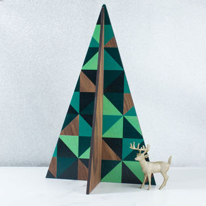 Large Geometric Christmas Tree Decoration - tree decorations