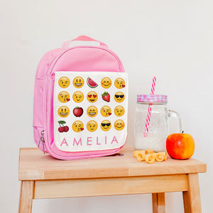 Children's Personalised Insulated Emoji Lunch Bag