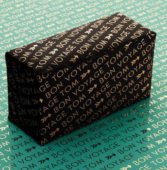 Personalised 'Bon Voyage' Wrapping Paper