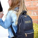 Personalised Embroidered Black Rucksack