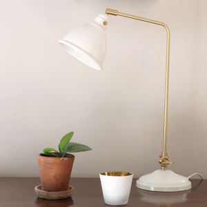 White And Gold Desk Lamp - bedside lamps