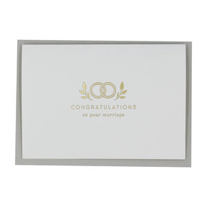 Gold Foil Congratulations Wedding Card - wedding cards