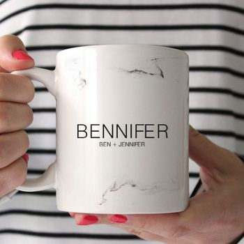 Personalised Super Couple Mug
