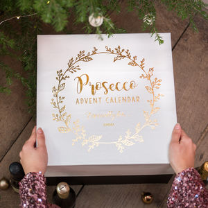 Personalised Luxury Prosecco Advent Calendar