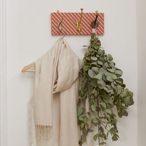 Ziggy Fabric Mismatched Coat Rack With Three Hooks - furnishings & fittings