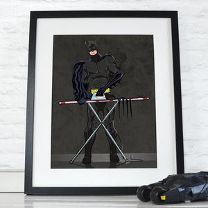 Superhero Batman Ironing Poster Art Print - children's room