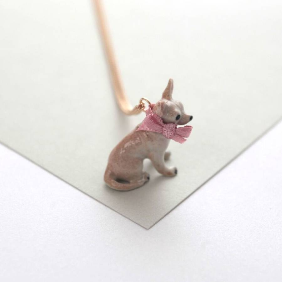 chihuahua necklace by and notonthehighstreet