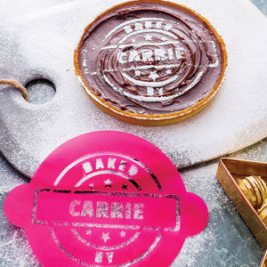 Personalised 'Baked By' Cake Stencil - gifts for bakers