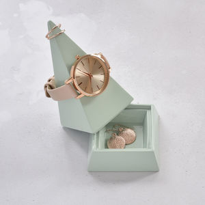 Duck Egg Pyramid Jewellery Peak Large - jewellery storage & trinket boxes
