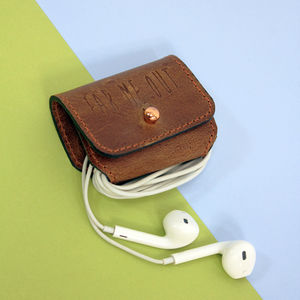 'Ear Me Out' Leather Earphone Holder