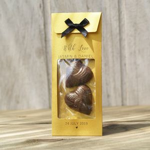 Gold Wedding Chocolate Favours - heart favours