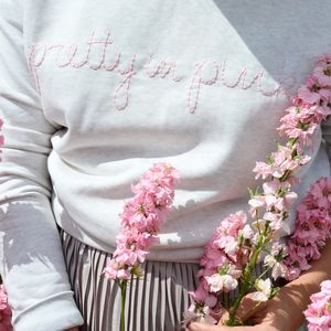'Pretty In Pink' Sweatshirt - new in fashion