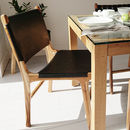Natural London Teak And Leather Chair