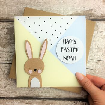 Personalised Easter Bunny Rabbit Card