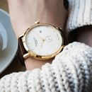 'Richmond' Mocha Brown, White And Gold Watch