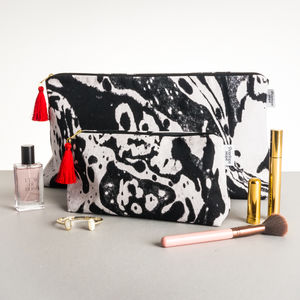 Mono Marble Large Wash Bag - wash & toiletry bags
