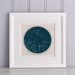 Personalised Birthday Constellation Print - 80th birthday gifts