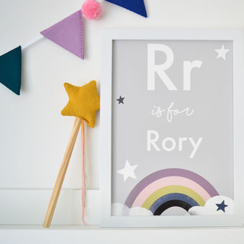 Personalised Modern Rainbow Children's Nursery Print