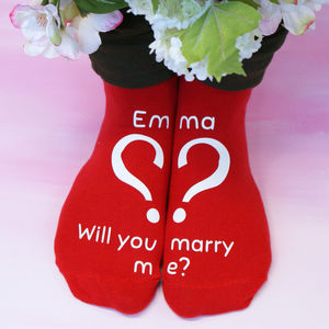 Personalised Marry Me Socks - new in fashion