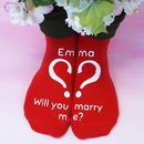 Personalised Marry Me Socks