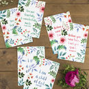 Set Of Six Encouraging Faith Postcards