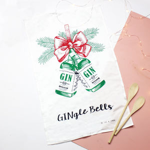 Christmas Gin Tea Towel - kitchen accessories