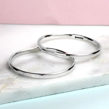 Personalised Babies Silver Bangle