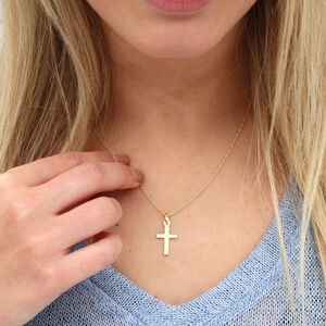 9ct Gold Cross And Chain Necklace