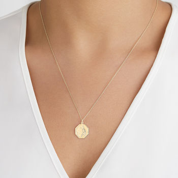 Gold / Silver St Christopher Medallion Pendant Necklace