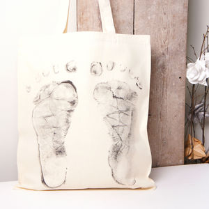 'Baby Steps' Tote Bag Standing Feet