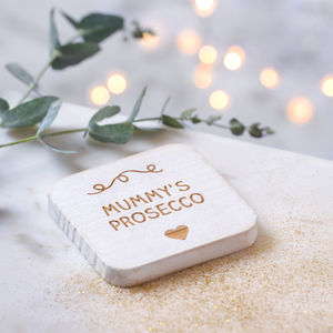 Personalised Prosecco Drink Coaster - gifts for her