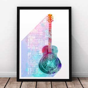 Heroes Of Blues Print