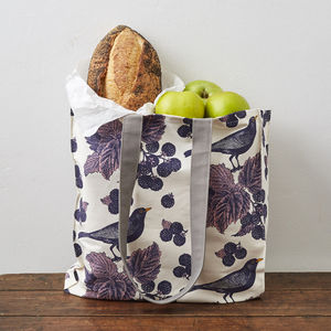 Blackbird And Bramble Tote Bag
