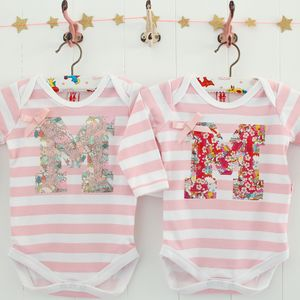 New Baby Girl Personalised Bodysuit - babygrows