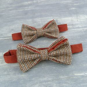 Father And Son Harris Tweed Bow Ties