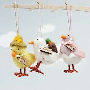 Personalised Easter Chick Hanging Decoration