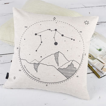 Personalised Zodiac Sign Cushion Cover