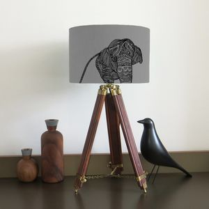Elephant Lampshade With Fifteen Fabric Colour Options - children's lighting