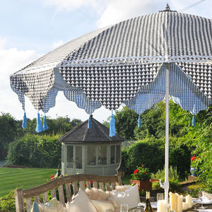 Geometric Triangle Print Garden Parasol - parasols & windbreaks