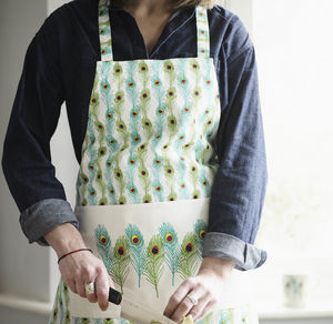 Peacock Feather Apron - new in home