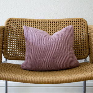 Blush Pink Seed Stitch Hand Knit Cushion