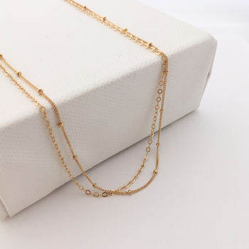 Delicate Gold Layered Chain Necklace