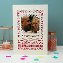 Paper First Wedding Anniversary Keepsake Photo Card