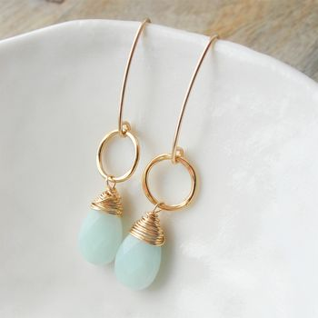 Amazonite Long Earrings
