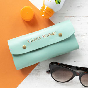 Personalised Handmade Leather Sunglasses Case - glasses cases