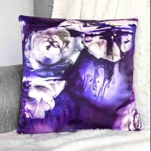 Purple Satin Cushion