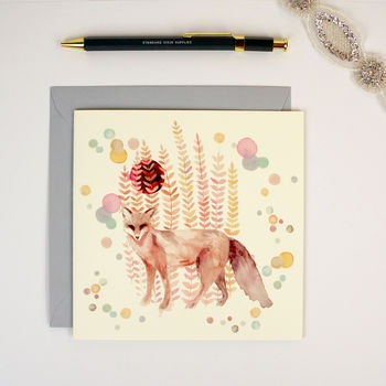 Greeting Card Fortune Fox