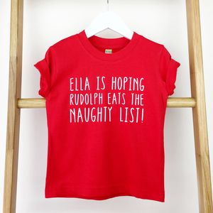 Personalised Rudolph Kids Christmas T Shirt - clothing