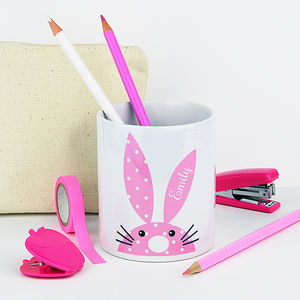 Personalised Rabbit Pen Pot