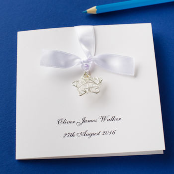 Personalised New Baby Wire Star Card